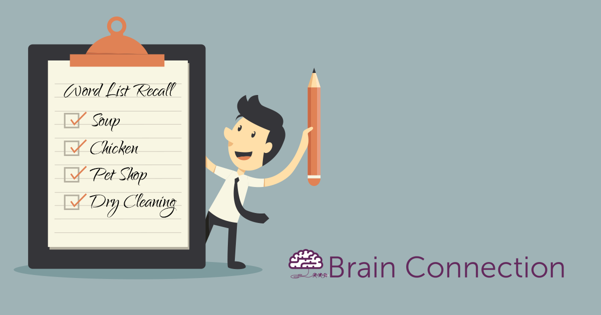 Word List Recall Brain Connection – Simple Listing Words